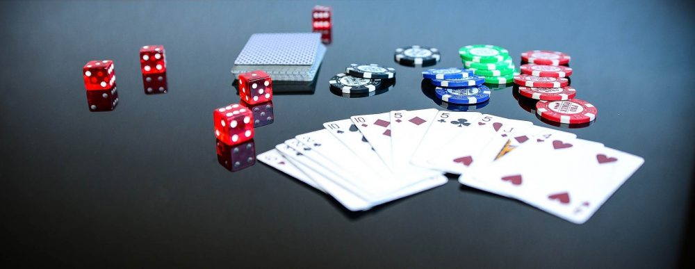 Cards chips dice