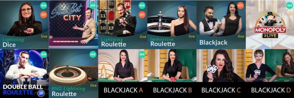 Oranje Casino Live casino spellen