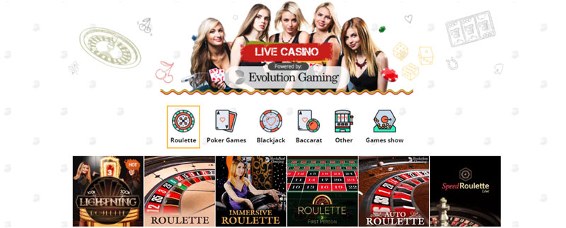 Bob Casino Live Casino