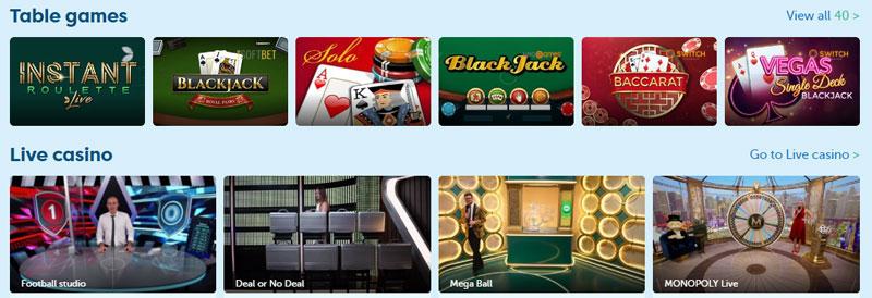 Playfrank live casino spellen