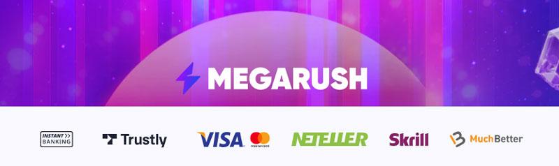 Megarush betalingsmethoden