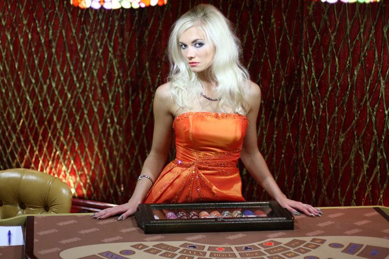 Live casino croupier