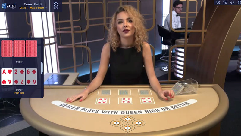 Teen Patti online kaartspel