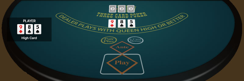 Three Card poker spel