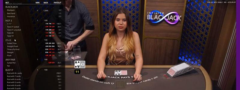 Beste live spellen Infinite Blackjack