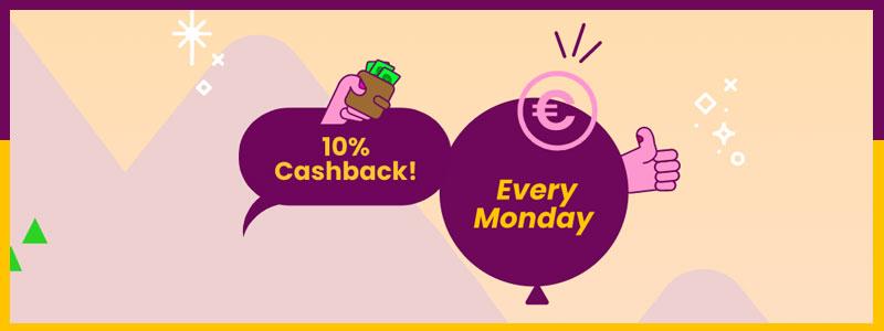 Mount Gold Casino cashback bonus