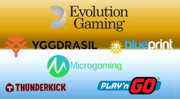 Bekende spelproviders