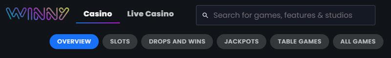 Winny Casino spellen
