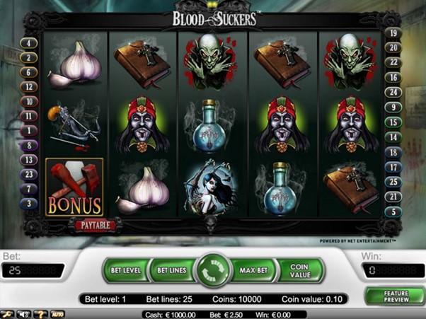 Blood suckers slot screenshot