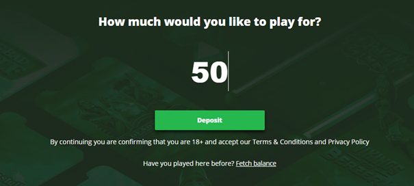 How much would you like to play for?