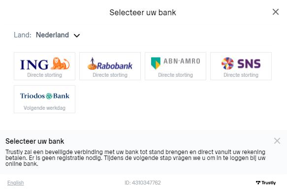 Select a bank