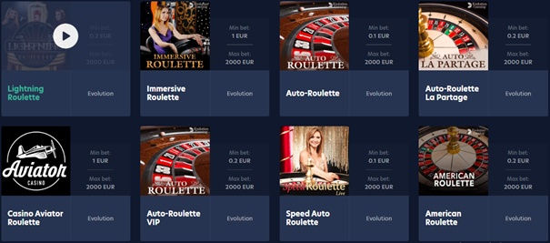 Live.casino roulette