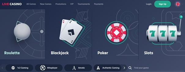 Live.casino spellen