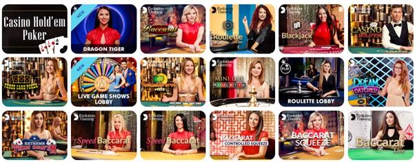 Locowin Casino Live Casino Screenshot