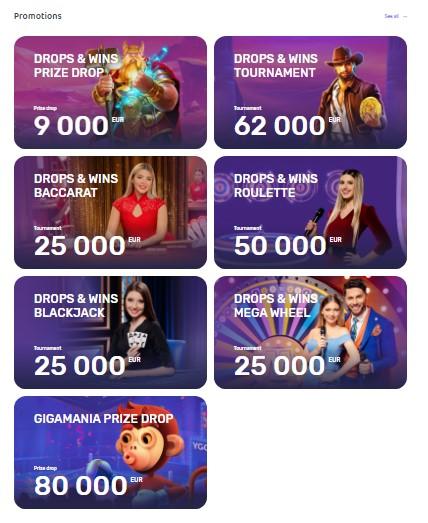 Emojino Casino Drops & Wins