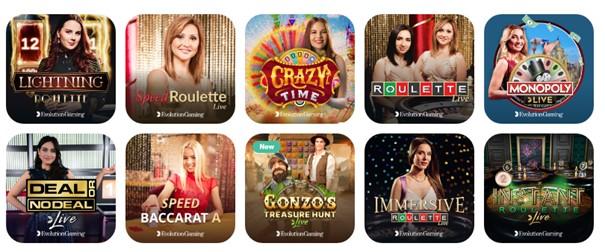 Emojino Casino Live Casino