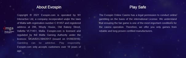 Evospin Casino Licentie
