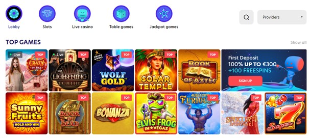 Evospin Casino Slots Screenshot