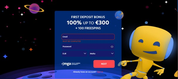 Evospin Casino Screenshot